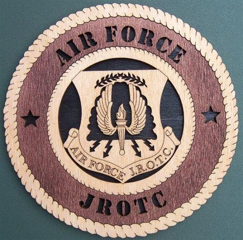 "Laser Pics and Gifts: 12"" AIR FORCE JROTC Military Plaque - Laser Pics & Gifts"