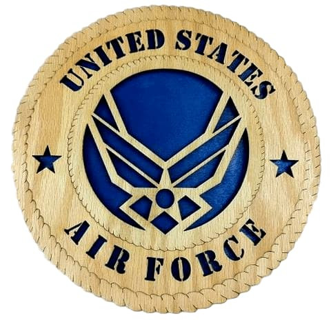 "Laser Pics and Gifts: 12"" AIR FORCE NEW Military Plaque - Laser Pics & Gifts"