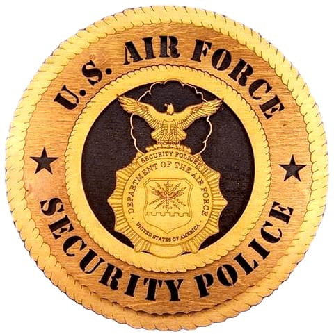 Laser Pics and Gifts:  AIR FORCE SECURITY POLICE Military Plaque - Laser Pics & Gifts