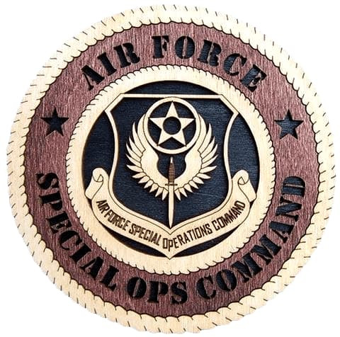 "Laser Pics and Gifts: 12"" AIR FORCE SPECIAL OPS Military Plaque - Laser Pics & Gifts"