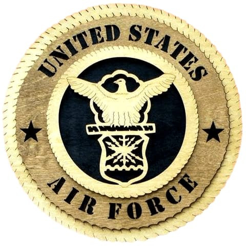 "Laser Pics and Gifts: 12"" AIR FORCE Military Plaque - Laser Pics & Gifts"