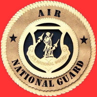 "Laser Pics and Gifts: 12"" AIR NATIONAL GUARD Military Plaque - Laser Pics & Gifts"