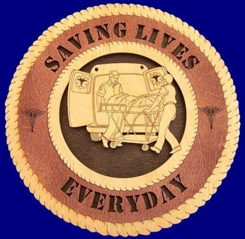 Laser Pics and Gifts: AMBULANCE CREW Professional Plaque - Laser Pics & Gifts