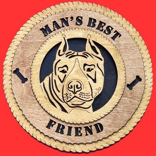 Laser Pics and Gifts: AMERICAN STAFFORDSHIRE Dog Plaque - Laser Pics & Gifts
