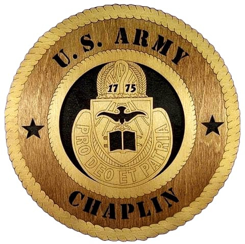 Laser Pics and Gifts: ARMY CHAPLAIN Military Plaque - Laser Pics & Gifts