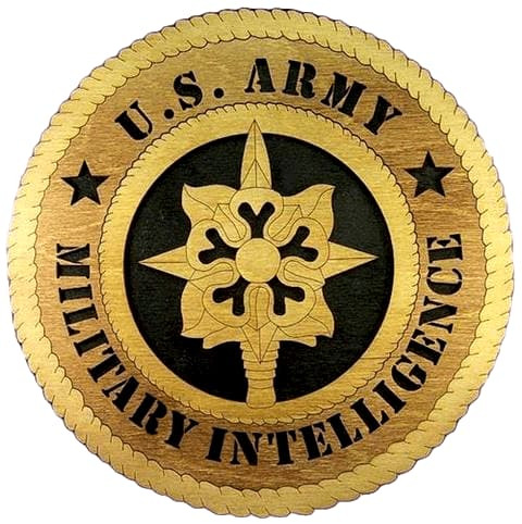 Laser Pics and Gifts: ARMY Military INTELLIGENCE Military Plaque - Laser Pics & Gifts