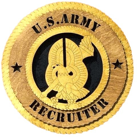 "Laser Pics and Gifts: 12"" ARMY RECRUITER COMMAND Plaque - Laser Pics & Gifts"
