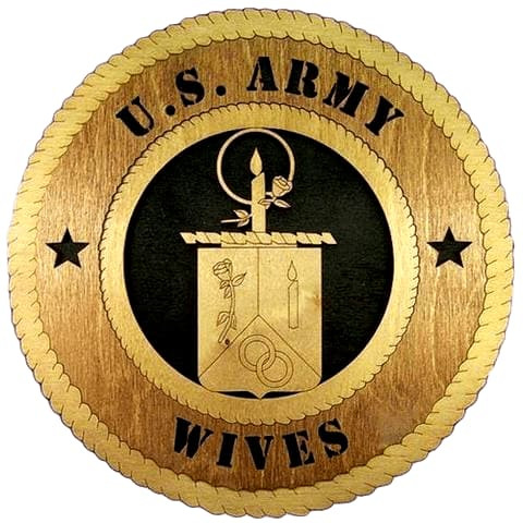 "Laser Pics and Gifts: 12"" ARMY WIVES Plaque - Laser Pics & Gifts"