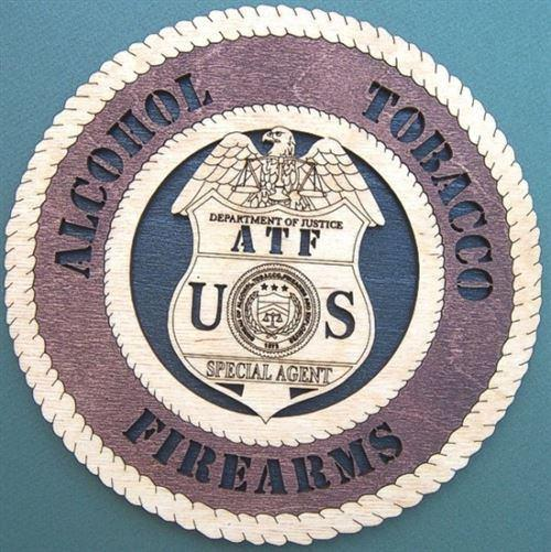 Laser Pics and Gifts:  ATF Plaque - Laser Pics & Gifts
