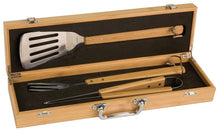 Laser Pics and Gifts: 3 Piece Bamboo BBQ Set in Bamboo Case - Laser Pics & Gifts