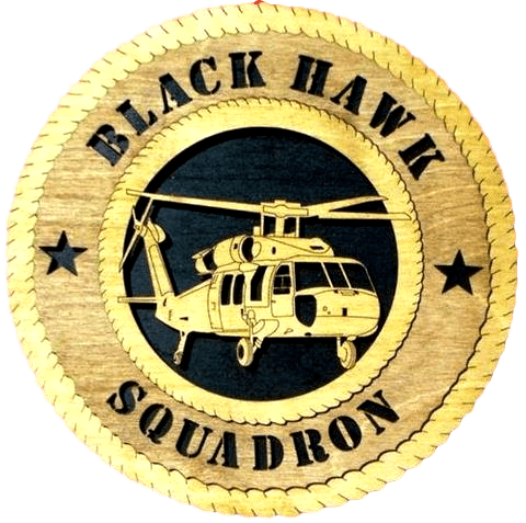Laser Pics and Gifts:  BLACK HAWK Plaque - Laser Pics & Gifts