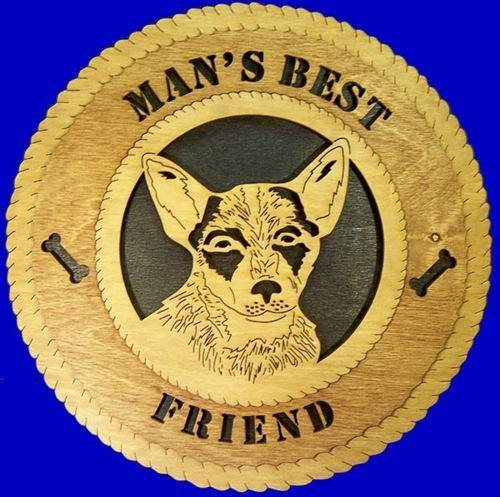 "Laser Pics and Gifts: 12"" BLUE HEELER Plaque - Laser Pics & Gifts"