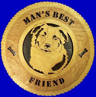"Laser Pics and Gifts: 12"" BORDER COLLIE Plaque - Laser Pics & Gifts"