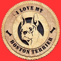 "Laser Pics and Gifts: 12"" BOSTON TERRIER Plaque - Laser Pics & Gifts"