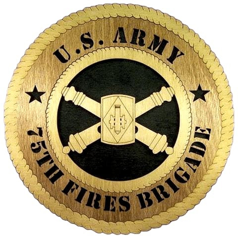 Laser Pics and Gifts: 75TH BRIGADE COMMANDER Plaque - Laser Pics & Gifts