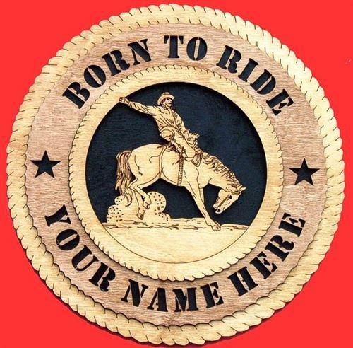 "Laser Pics and Gifts: 12"" BRONCO RIDER Plaque - Laser Pics & Gifts"