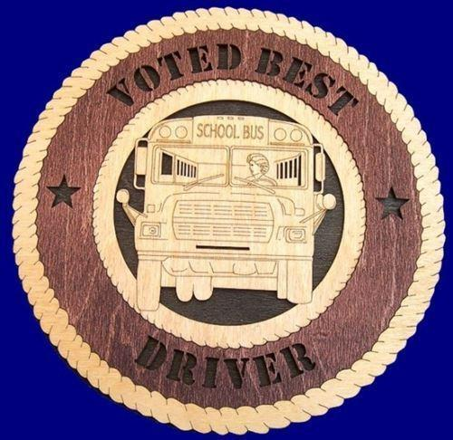 Laser Pics and Gifts:  BUS DRIVER FEMALE Plaque - Laser Pics & Gifts