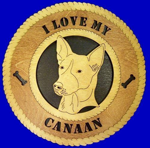 Laser Pics and Gifts:  CAANAN Dog Plaque - Laser Pics & Gifts