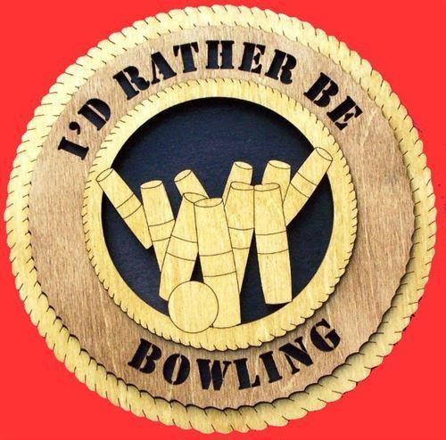 Laser Pics and Gifts:  CANDLEPIN BOWLING Plaque - Laser Pics & Gifts