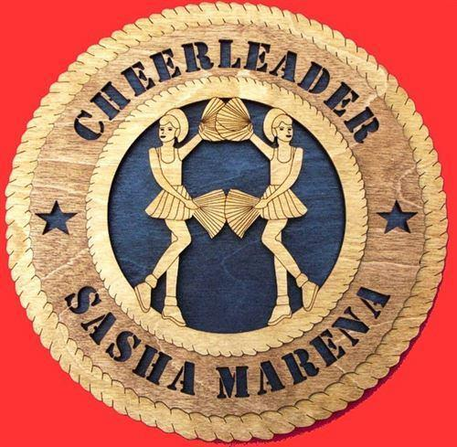Laser Pics and Gifts:  CHEERLEADER Plaque - Laser Pics & Gifts
