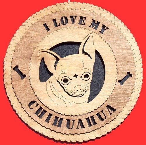 Laser Pics and Gifts:  CHIHUAHUA Dog Plaque - Laser Pics & Gifts