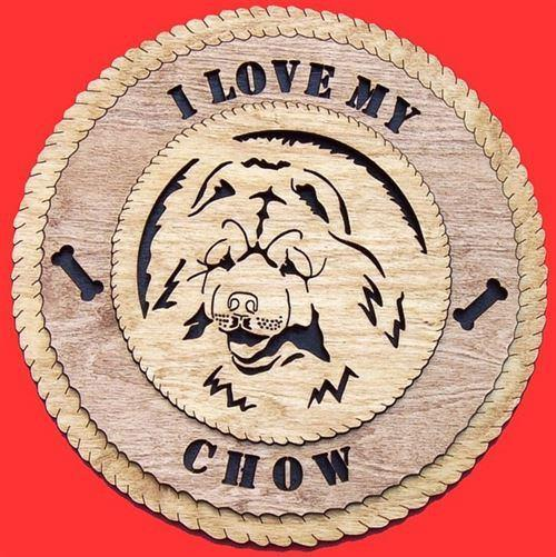 Laser Pics and Gifts:  CHOW Dog Plaque - Laser Pics & Gifts