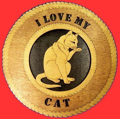 Laser Pics and Gifts:  CLEANING CAT Plaque - Laser Pics & Gifts