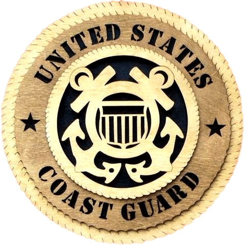 Laser Pics and Gifts: COAST GUARD Military Plaque - Laser Pics & Gifts