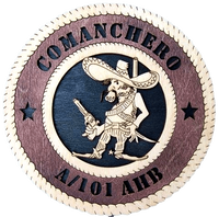 "Laser Pics and Gifts: 12"" COMANCHERO Military Plaque - Laser Pics & Gifts"
