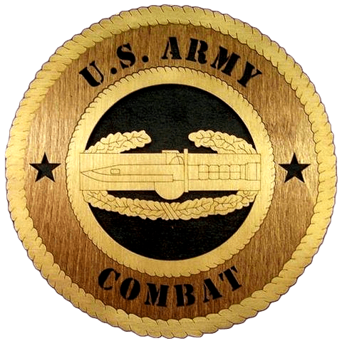 Laser Pics and Gifts: COMBAT ARMY Military Plaque - Laser Pics & Gifts