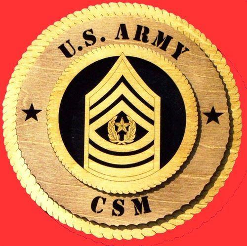 Laser Pics and Gifts: COMMAND SERGEANT MAJOR Military Plaque - Laser Pics & Gifts