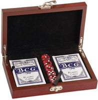 Rosewood Finish Card and Dice Set
