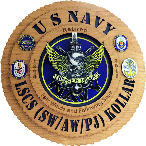 Laser Pics and Gifts: Custom Military Plaque Five - Laser Pics & Gifts