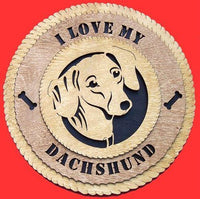 Laser Pics and Gifts:  DACHSHUND Dog Plaque - Laser Pics & Gifts
