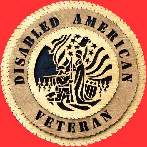 Laser Pics and Gifts: Disabled-Vet Military Plaque - Laser Pics & Gifts