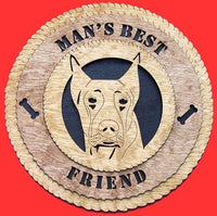 Laser Pics and Gifts: DOBERMAN CROPPED Dog Plaque - Laser Pics & Gifts