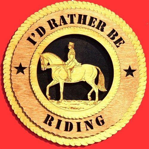 Laser Pics and Gifts:  DRESSAGE - FEMALE Plaque - Laser Pics & Gifts