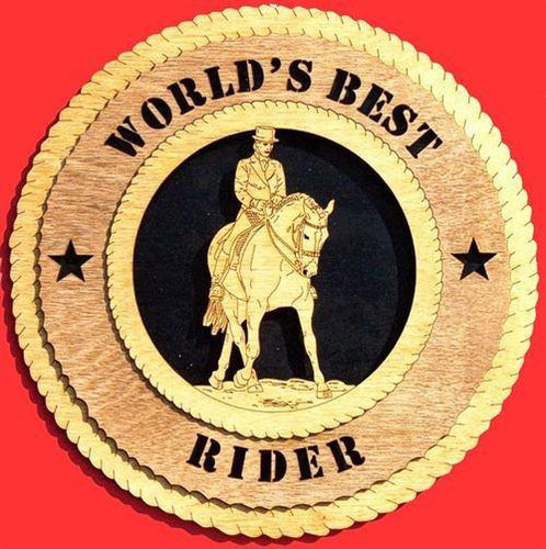 Laser Pics and Gifts: DRESSAGE - MALE  Plaque - Laser Pics & Gifts