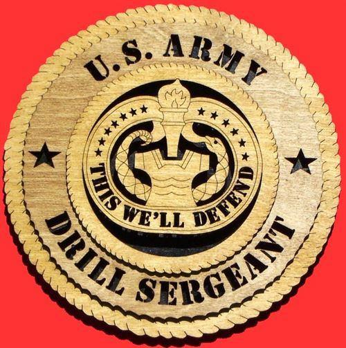 Laser Pics and Gifts: DRILL SERGEANT Military Plaque - Laser Pics & Gifts