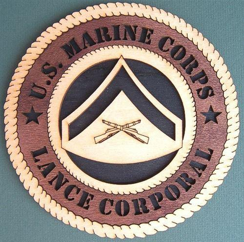 Laser Pics and Gifts: E-3 LANCE CORPORAL Military Plaque - Laser Pics & Gifts