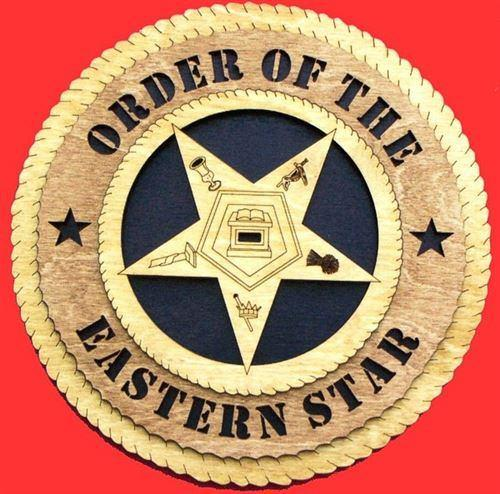 Laser Pics and Gifts: Eastern Star Military Plaque - Laser Pics & Gifts