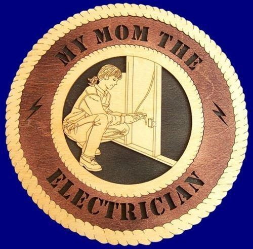 "Laser Pics and Gifts: 12"" ELECTRICIAN FEMALE Professional Plaque - Laser Pics & Gifts"