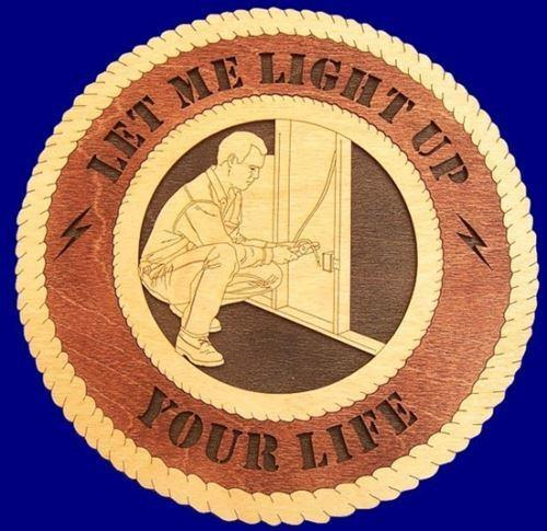 Laser Pics and Gifts: ELECTRICIAN MALE Professional Plaque - Laser Pics & Gifts