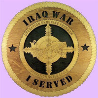 "Laser Pics and Gifts: 12"" ENDURING FREEDOM Military Plaque - Laser Pics & Gifts"