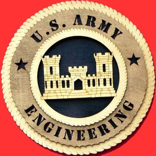 "Laser Pics and Gifts: 12"" ENGINEERING Military Plaque - Laser Pics & Gifts"