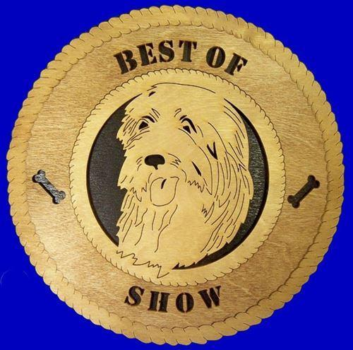 Laser Pics and Gifts: ENGLISH SHEEPDOG Dog Plaque - Laser Pics & Gifts