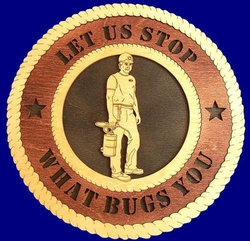"Laser Pics and Gifts: 12"" EXTERMINATOR Professional Plaque - Laser Pics & Gifts"