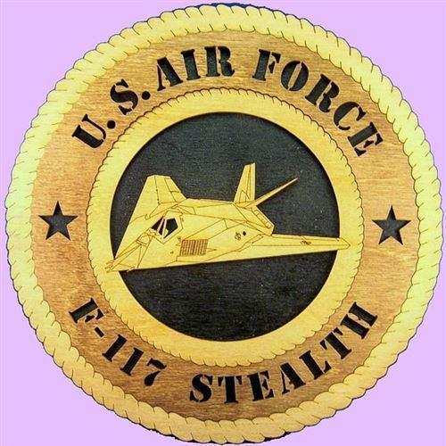 "Laser Pics and Gifts: 12"" F-117 STEALTH Military Plaque - Laser Pics & Gifts"