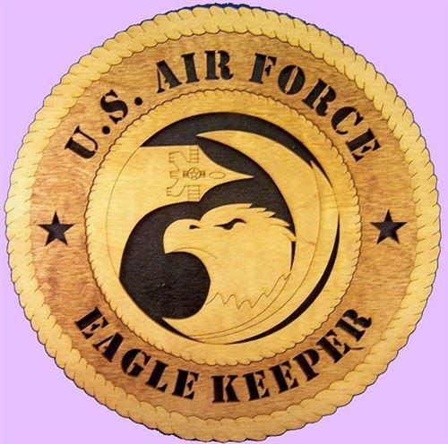 "Laser Pics and Gifts: 12"" F-15 EAGLE Military Plaque - Laser Pics & Gifts"
