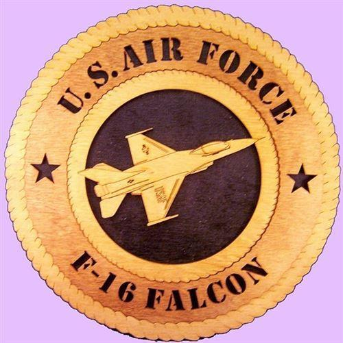 Laser Pics and Gifts: F-16 FALCON Military Plaque - Laser Pics & Gifts